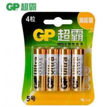 GP超霸5号4节碱性...