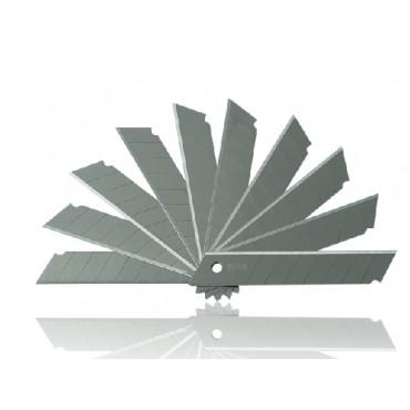 常用 [2]得力deli SK5高碳钢美工刀片2011大号刃口锋利 10片/盒 壁纸刀