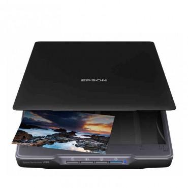 爱普生Epson V39商用办公SOHO轻薄便携OCR识别A4平板扫描仪