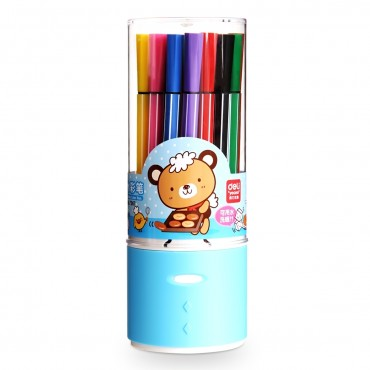 "得力<strong style=""color:red;"">文具</strong> deli 7067 彩笔 绚丽多彩可洗水彩笔 绘画笔24色/ 筒"