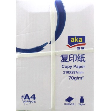 """AKA<strong style=""""color:red;"""">复印纸</strong> 打印不卡纸 5包装/箱 70g"""
